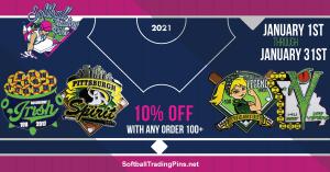 softball trading pin specials